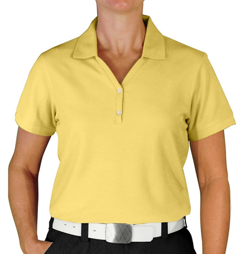 Ladies Clubhouse Golf Shirt - Butter