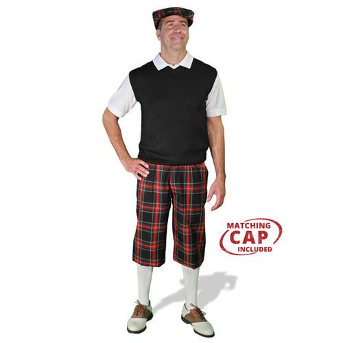 Golf Outfit - Mens Black Stewart & Black Sweater 1