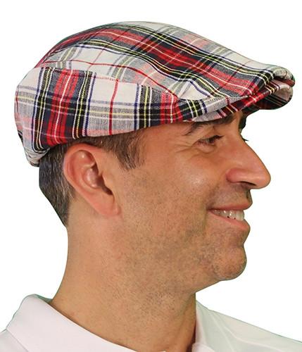 Plaid Golf Cap - 'Par 5' Mens Dress Stewart