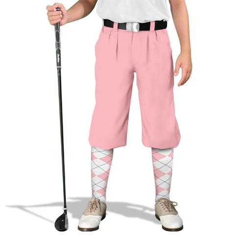 Golf Knickers - 'Par 4' Youth Pink Cotton