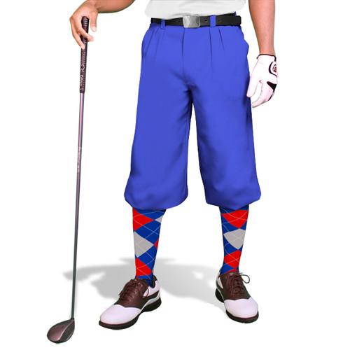 'Par 3' Mens Royal Microfiber Golf Knickers