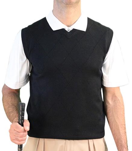 Solid Sweater Vest - Mens Black