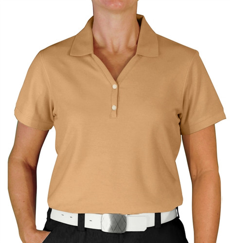 Ladies Clubhouse Golf Shirt - Khaki