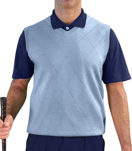Solid Sweater Vest - Mens Light Blue