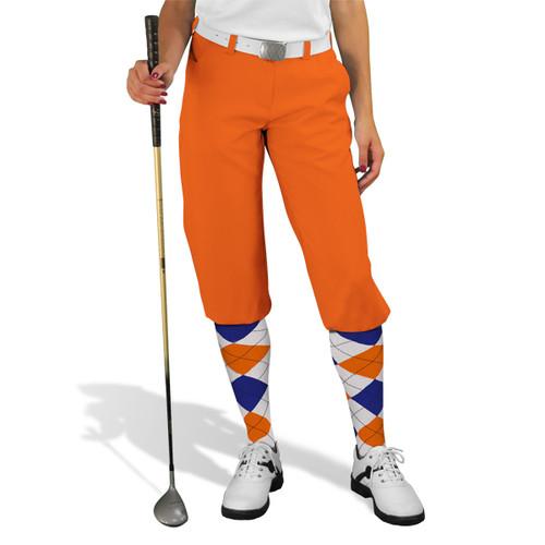 Golf Knickers - 'Par 3' Ladies Orange Microfiber