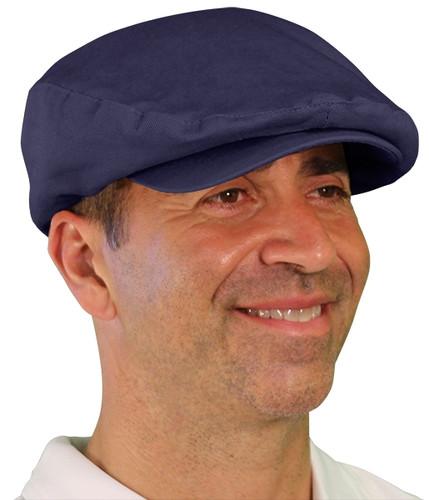 Golf Cap - 'Par 4' Mens Navy Cotton/Ramie