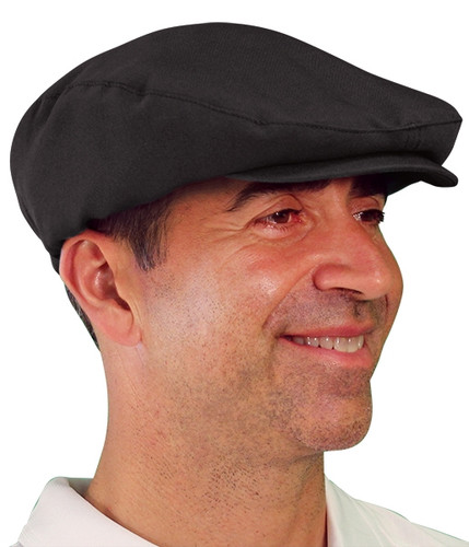 Golf Cap - 'Par 3' Mens Black Microfiber