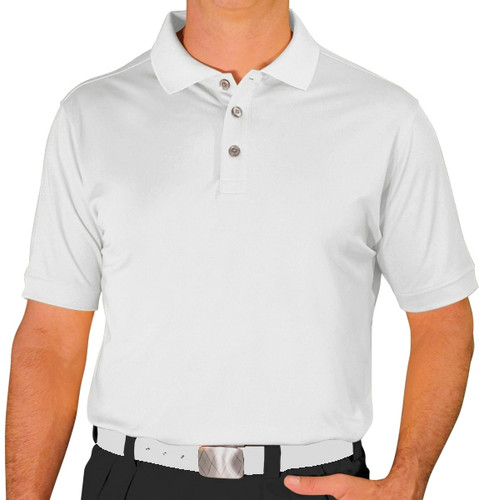 Mens Pro-Dry Golf Shirt - White