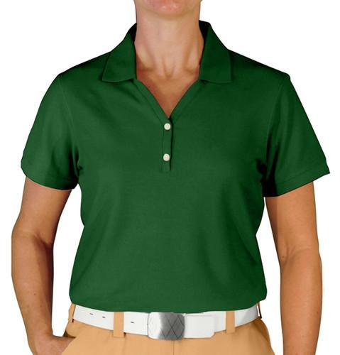 Ladies Clubhouse Golf Shirt - Dark Green