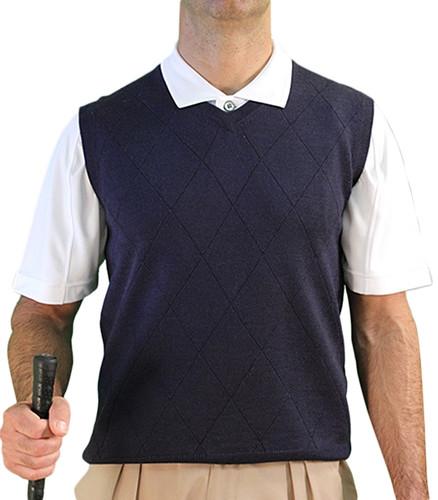 Solid Sweater Vest - Mens Navy