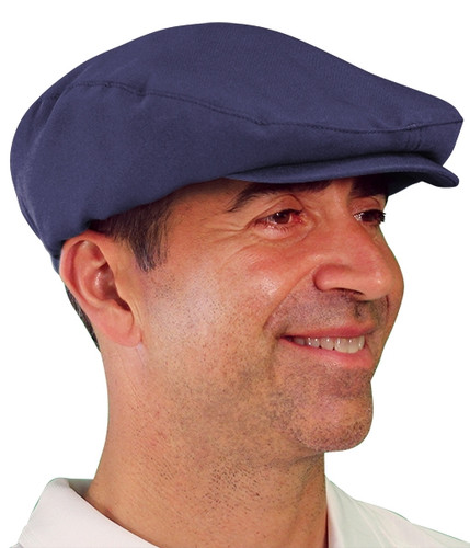 Golf Cap - 'Par 3' Mens Navy Microfiber