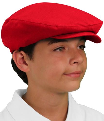 Golf Cap - 'Par 3' Youth Red Microfiber