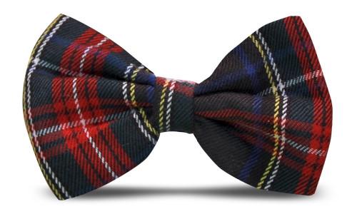 Plaid Bow Tie - 'Par 5' Black Stewart