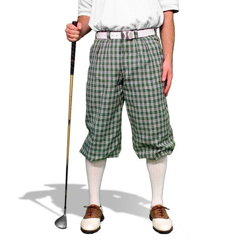 Plaid Golf Knickers - 'Par 5' Mens Sherwood