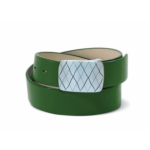 Couture Leather Ladies Golf Belt - Dark Green