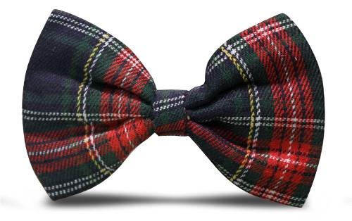 Plaid Bow Tie - 'Par 5' Navy Stewart