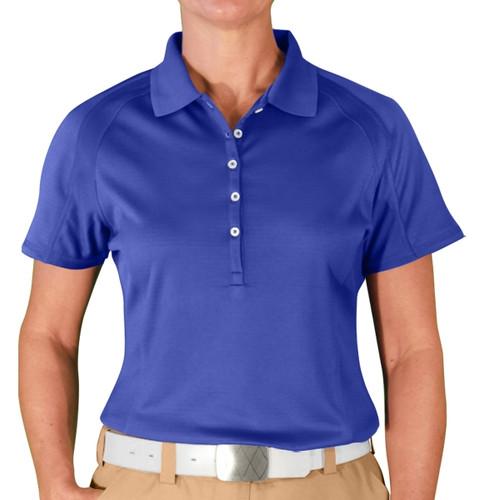 Ladies Hybrid Golf Shirt - Royal Blue