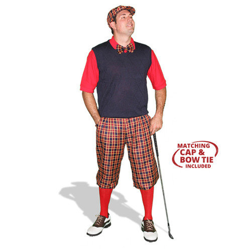 Mens Admiral, Red & Navy Sweater Golf Outfit