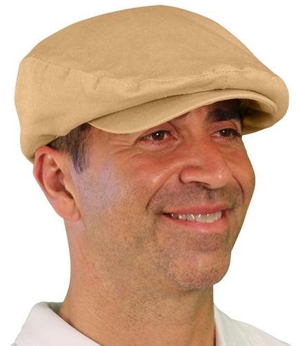 Golf Cap - 'Par 4' Mens Khaki Cotton/Ramie