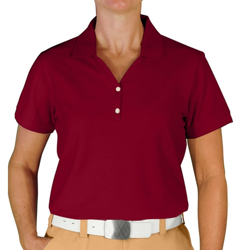 Ladies Clubhouse Golf Shirt - Maroon