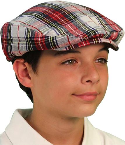 Plaid Golf Cap - 'Par 5' Youth Dress Stewart