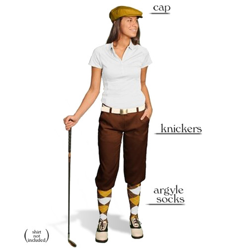 Golf Knickers - Ladies Brown Start-in-Style Outfit
