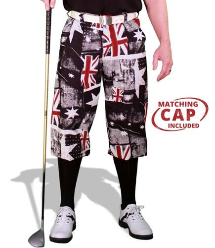 'Par 5' Mens Limited Plaid Golf Knickers & Cap