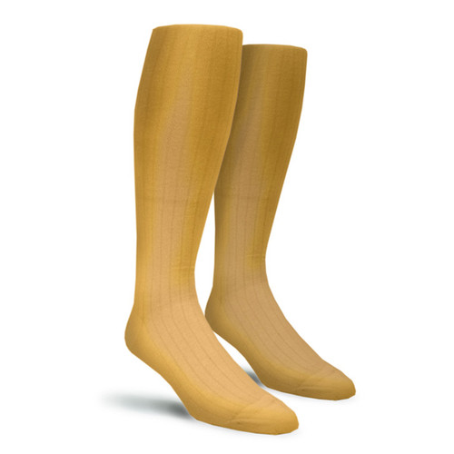Solid Socks - Mens Over-the-Calf Gold