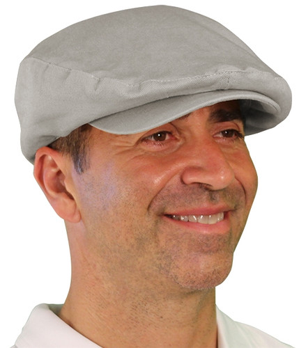 Golf Cap - 'Par 4' Mens Taupe Cotton/Ramie