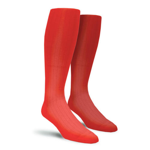 Solid Socks - Mens Over-the-Calf Red