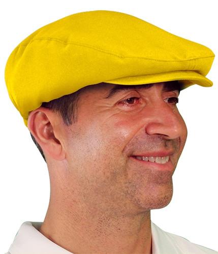 Golf Cap - 'Par 3' Mens Yellow Microfiber