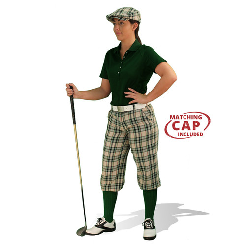 Golf Outfit Women - Khaki Stewart & Dark Green