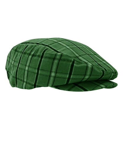 Plaid Golf Cap - 'Par 5' Mens Limited Dark Green