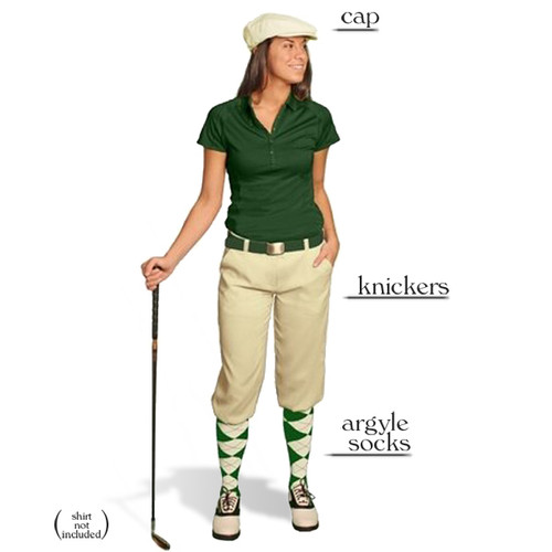 Golf Knickers - Ladies Natural Start-in-Style Outfit