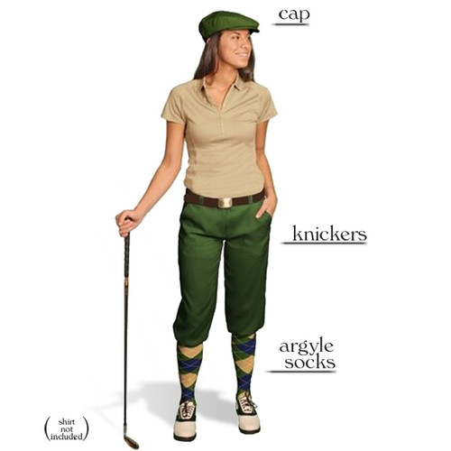 Golf Knickers - Ladies Olive Start-in-Style Outfit