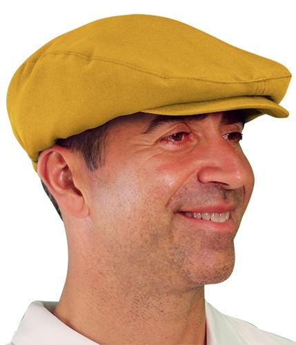 Golf Cap - 'Par 3' Mens Gold Microfiber