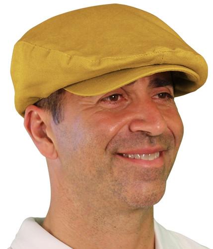 Golf Cap - 'Par 4' Mens Gold Cotton/Ramie