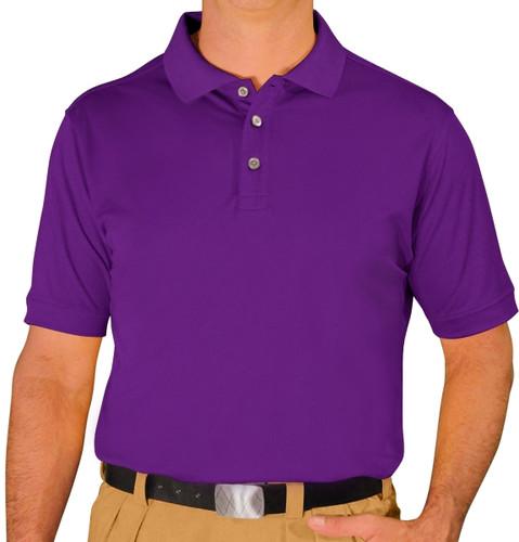 Mens Pro-Dry Golf Shirt - Purple