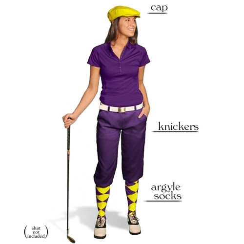 Golf Knickers - Ladies Purple Start-in-Style Outfit