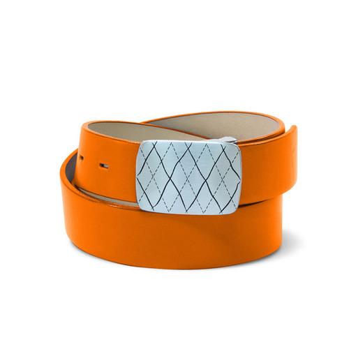 Couture Leather Ladies Golf Belt - Orange