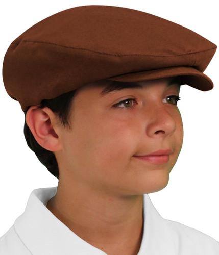 Golf Cap - 'Par 3' Youth Brown Microfiber