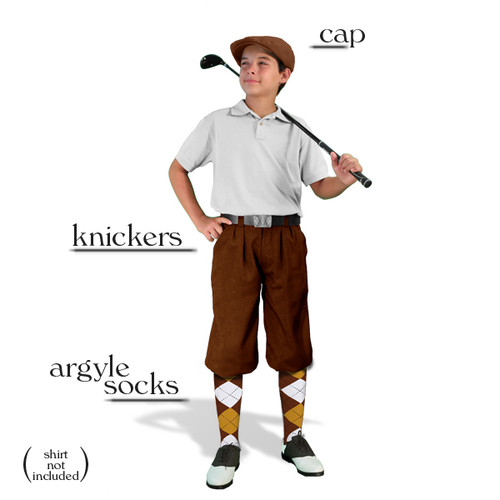 Golf Knickers - Youth Brown Start-in-Style Outfit