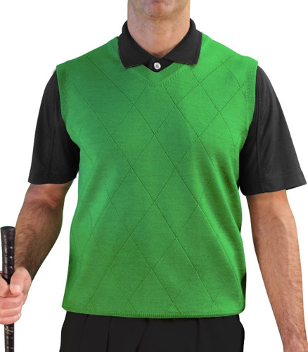 Solid Sweater Vest - Mens Lime