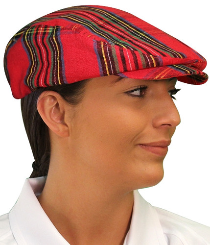 Plaid Golf Cap - 'Par 5' Ladies Royal Stewart