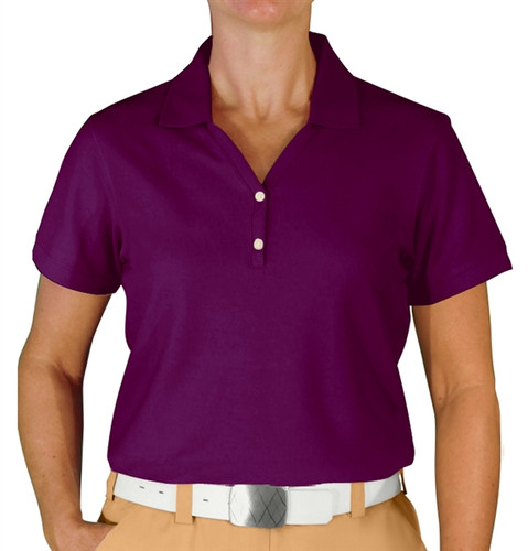 Ladies Clubhouse Golf Shirt - Purple