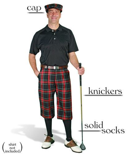 'Par 5' Black Stewart Plaid Start-in-Style Outfit