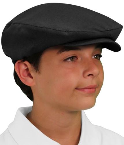 Golf Cap - 'Par 3' Youth Black Microfiber