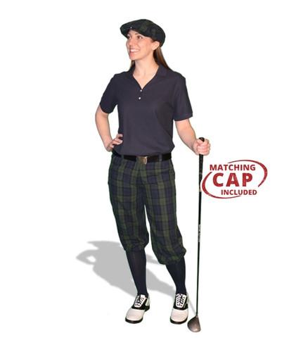 Golf Outfit Women - Black Watch & Navy