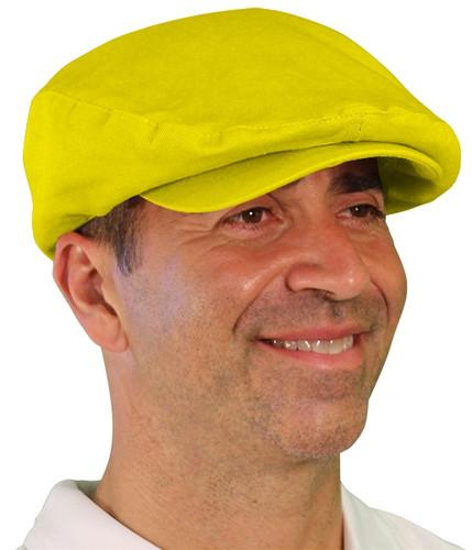 Golf Cap - 'Par 4' Mens Yellow Cotton/Ramie