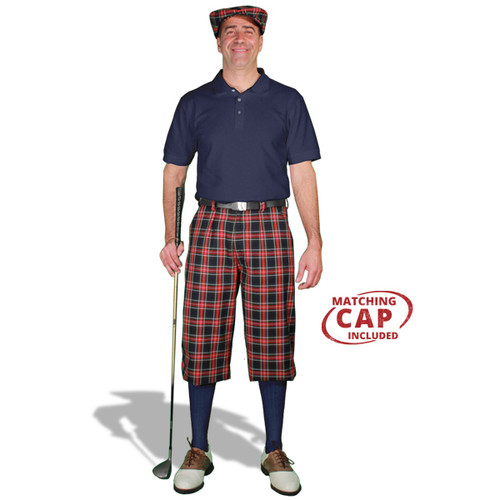 Golf Outfit - Mens Navy Stewart & Navy